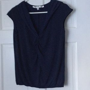 Max Studio Navy Blue Top